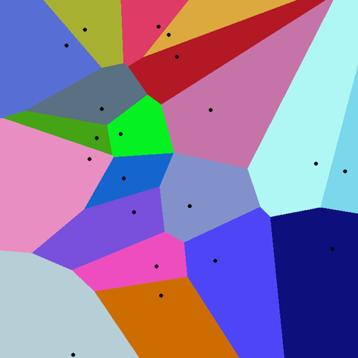 Example Voronoi diagram